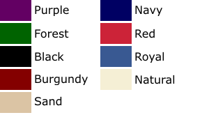 Cotton Duck Color Chart